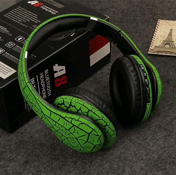 bilder für Einzigartige/Crack/Drahtlose A8 Bluetooth Kopfhörer Stirnband Kopfhörer Stereo Bluetooth Headset Sport Bluetooth Hörer Kopfhörer