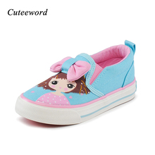 hot deal buy children canvas shoes fashion girls shoes spring autumn flats printing breathable girls sneakers baby toddler kids casual shoes