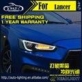 AKD Car Styling Head Lamp for Mitsubishi Lancer Headlights Lancer EX LED Headlight DRL H7 D2H Hid Option Angel Eye Bi Xenon Beam