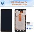 ААА лучший ЖК-ДИСПЛЕЙ для Microsoft Nokia Lumia 1520 ЖК-дисплей с сенсорным экраном дигитайзер + сборки рамы черного тела 6 дюймов экран + инструменты