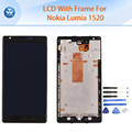 Aaa mejor lcd para microsoft nokia lumia 1520 pantalla lcd de pantalla táctil digitalizador + frame asamblea negro tela 6 pulgadas pantalla + herramientas