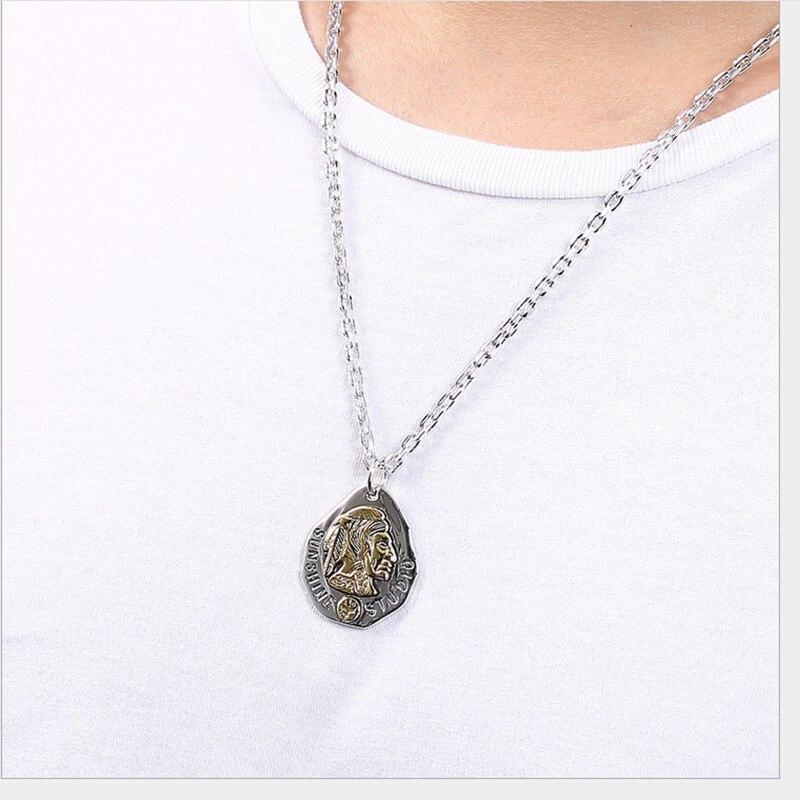 Uglyless 100% réel 925 argent Sterling indien chef pendentif colliers pas de chaîne à la main plumes pendentif exotique bijoux fins - 2