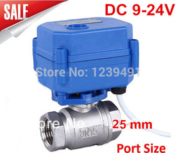 """Motorized Ball Valve 1"""" DN25 DC9-24V CR03 Wire 2 way Stainless Steel 304 Electric Ball Valve ,"""