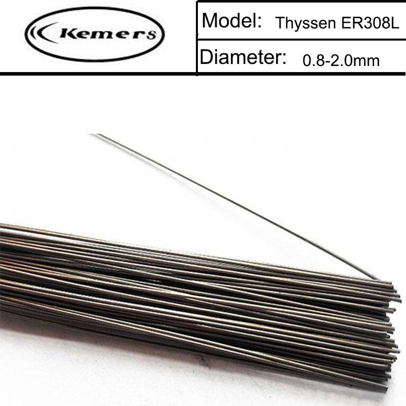 1KG/Pack Kemers Thyssen ER308L of 0.8/1.0/1.2/2.0mm TIG Welding Wires Mould welding wire for Welders T012021 professional welding wire feeder 24v wire feed assembly 0 8 1 0mm 03 04 detault wire feeder mig mag welding machine ssj 18