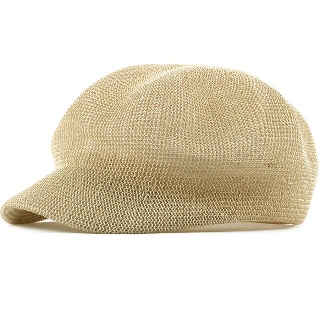 HT1839 Korea Style Men Women Beret Caps Solid Plain Flat Newsboy Caps High  Quality Summer Ivy Cabbie Sun Hats Male Female Berets a32ad752e974