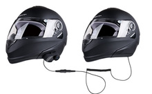 1 Unidades Estéreo Bluetooth Intercom Headset para el Motociclista Y el Pasajero Pillon Casco BT Interfono