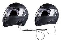1 Unidades Estéreo Bluetooth Intercom Headset para el Motociclista Y el Pasajero Pillon Casco BT Interfono