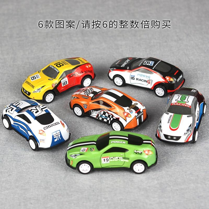 6pcs/set Toy Car Alloy Tin Mini Pull Back Car Children Toy Cartoon Trade Subway Track Hot Racing Kids Toys Boys Room Gift Wheel