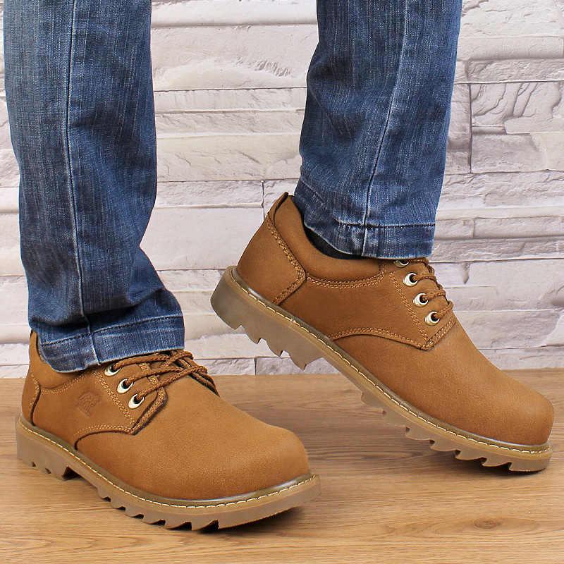 Boyutu 37 ~ 49 tam tahıl deri erkek botları en kaliteli el yapımı artı boyutu 2018 hakiki deri Hecrafted marka erkek ayakkabısı # LS7511