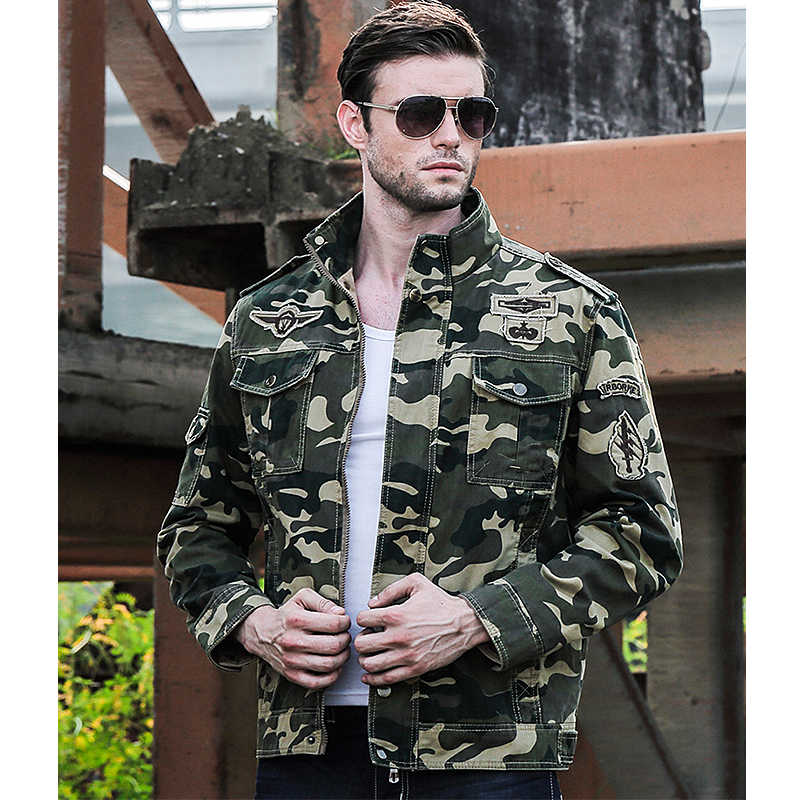 2018 lente Herfst Camouflage jassen mannen streetwear toevallige jassen losse parka mannen Militaire mode jassen mannen casaco masculino
