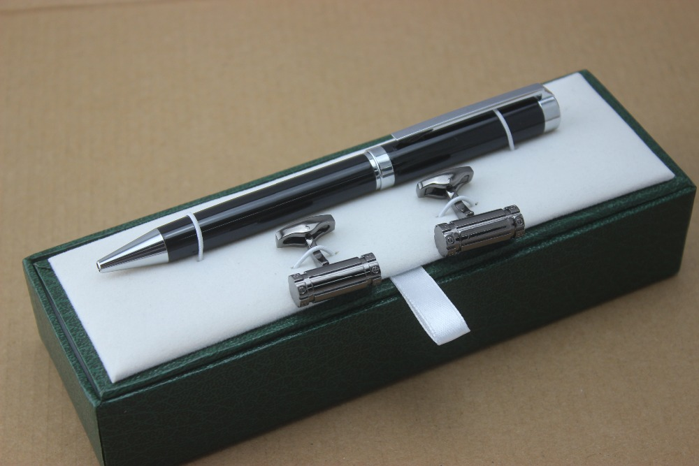 High quality ballpoint pen and Cufflinks stationery school office supplies luxury brand writing gift pen цена