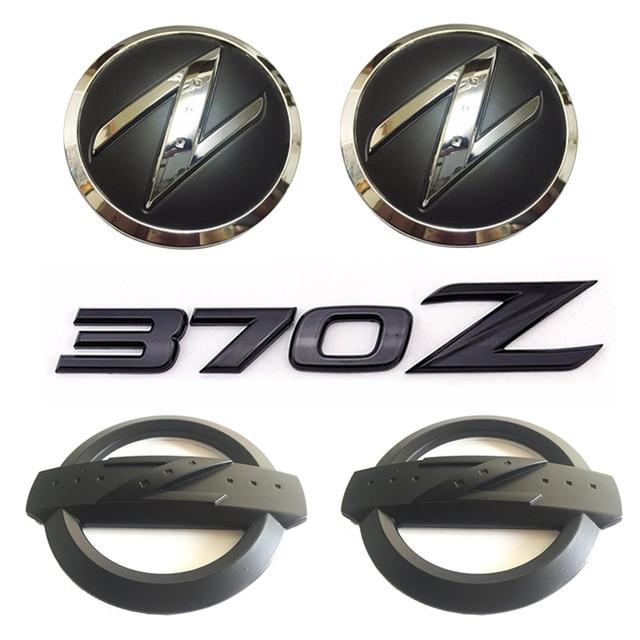 1 Set5x Black 3d 370 Z Symbol Car Body Front Rear Side Emblem