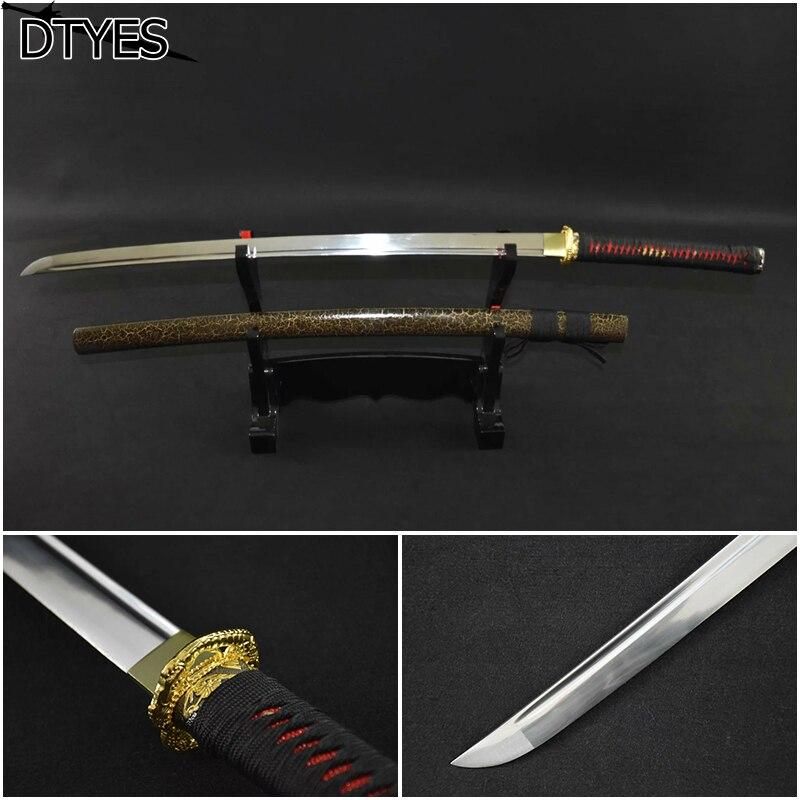 Katana samurai japonês espada katana samurai sword katana sword carbono  handmade katana sword batalha pronto 9783012e56