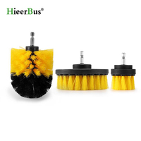 HieerBus Power Scrubber Brush Clean 3 pcs for Bathroom Surfaces Tub Shower Tile Grout Cordless Power Scrub Cleaning Kit