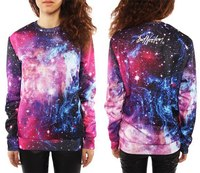 Fashion New Clothing Arrive Sudaderas Space Sweatshirt Moleton Style Crewneck 3D Print Galaxy Sweatshirts Jumper For
