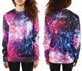 Moda roupa nova chegam Sudaderas espaço camisola Moleton estilo Crewneck impressão 3D Galaxy Jumper moletons para mulheres homens