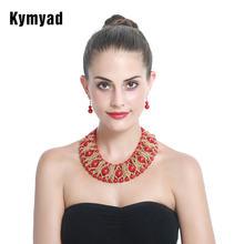 Женский комплект украшений kymyad набор золотого цвета с африканскими