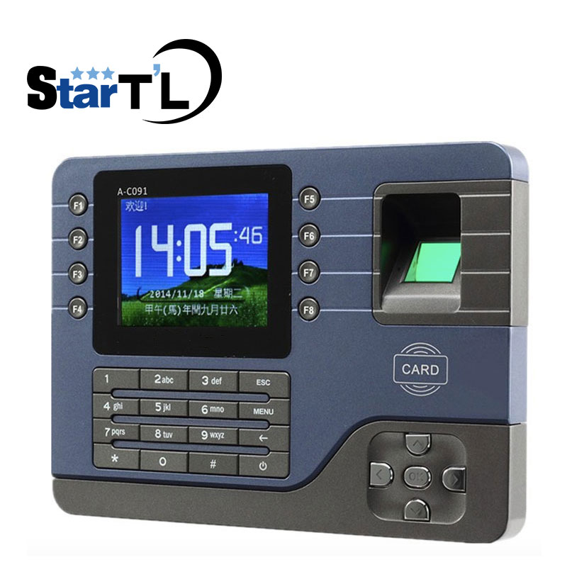 A-C091 TCP/IP Biometric Fingerprint Time Clock Recorder Attendance Employee Electronic English Punch Reader Machine