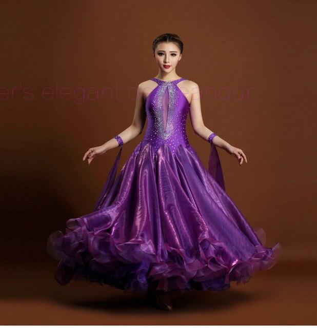 Новые Бальные Танцевальные костюмы сексуальные спандекс камни бальных танцев платье для женщин бальных танцев конкуренции платья