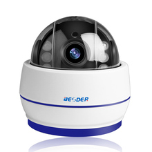 BESDER bezprzewodowa kamera kopułkowa PTZ kamera Wifi HD 1080P 960P automatyczne ustawianie ostrości 5X Zoom 2.7 13.5mm Audio ONVIF P2P kamera IP gniazdo kart SD