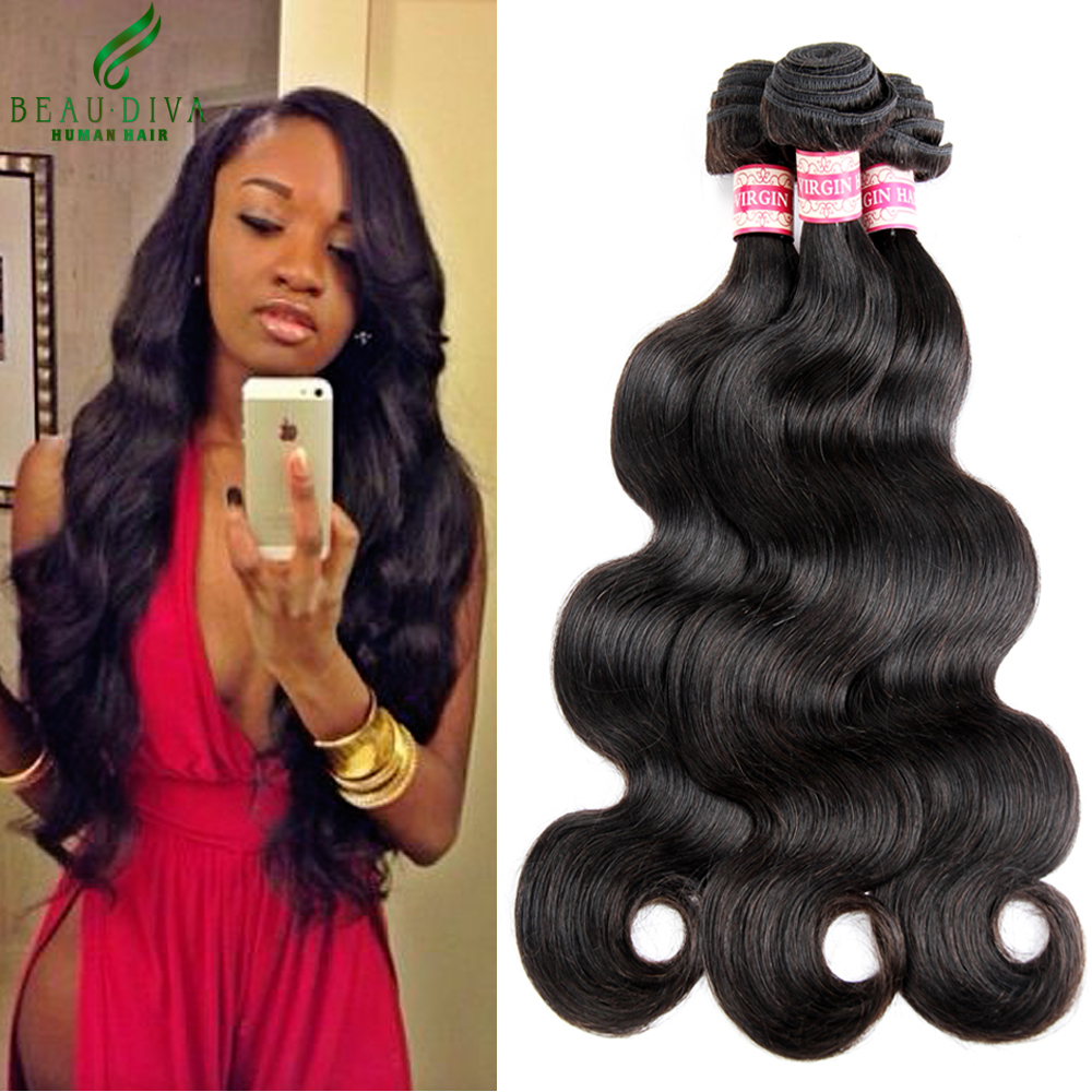 us $111.72  malaysian virgin hair body wave 4 bundles deal malaysian body wave 7a unprocessed virgin hair weave 100% human hair extensions on