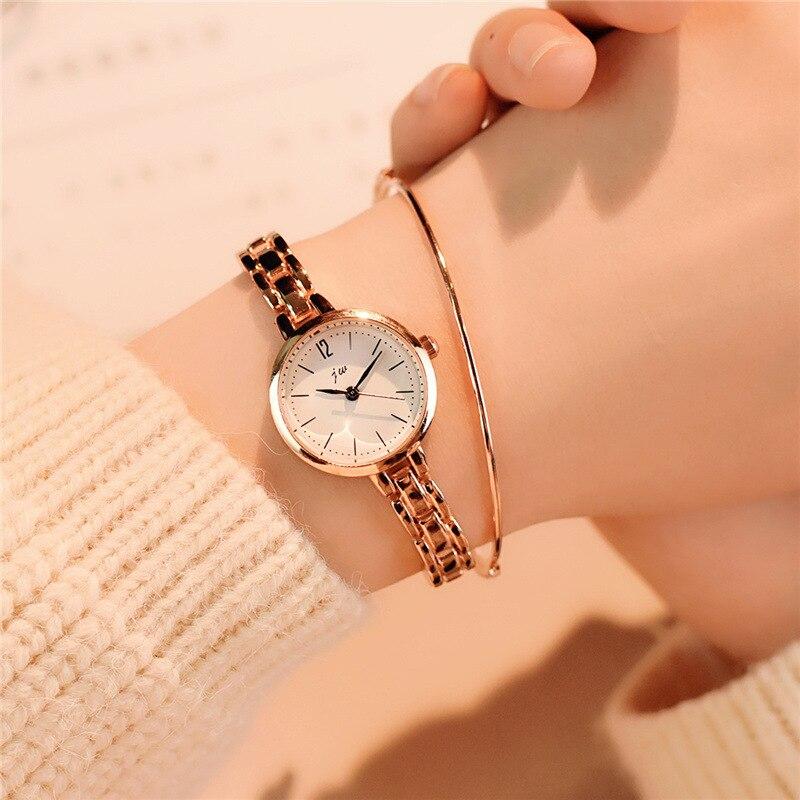 Luxury fashion gold bracelet watch full stainless steel women quartz watches 2018 simple small ladies wristwatches female clock chain