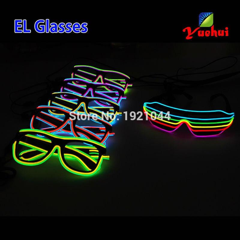 Novi očala Šest barvnih večbarvnih zvočno aktiviranih EL žic - Prazniki in zabave - Fotografija 4