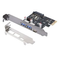 USB 3.1 Type C PCIe Expansion Card PCI e to 1 Type C and 2 Type A 3.0 USB Adapter PCI Express Controller Hub For Desktop PC