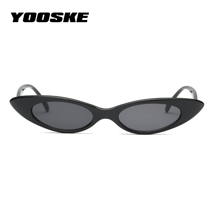 YOOSKE Tiny Cat Eye Sunglasses Women Luxury Brand Designer Sun Glasses Retro Small Red ladies Sunglass Cateyes Eyewear Shades