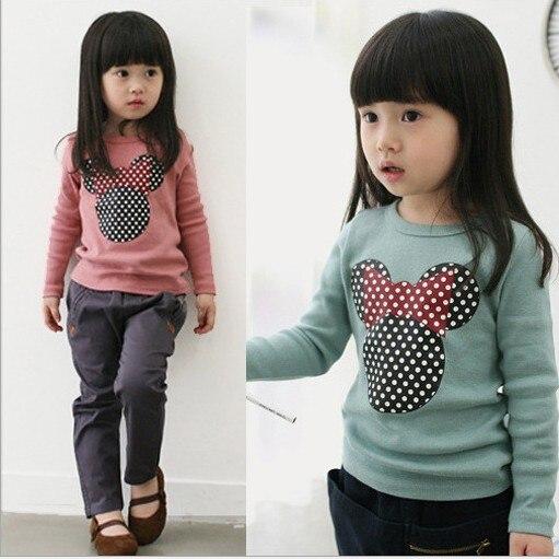 2017 new spring children's clothing Korean lamb baby girls hooded sweater cartoon children hoodies kids sweatshirt pink t shirt