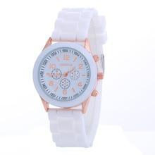 Роскошный силиконовый ремешок Мужская watchRelogio masculino Для женщин наручные часы для Для женщин Relojes hombre 2017 часы