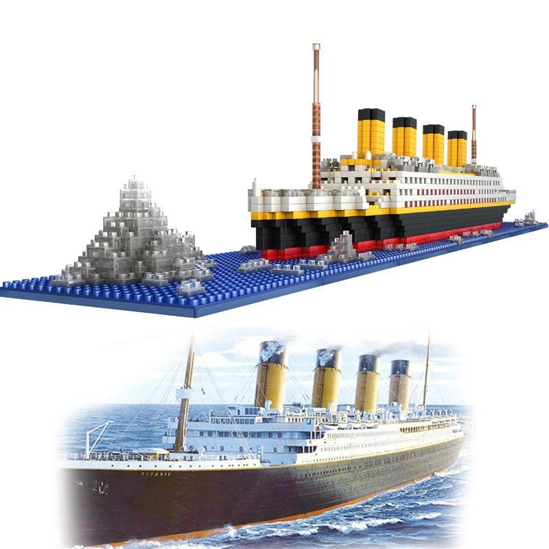 1860Pcs New Technic Bricks Mini Nano Micro Building Block Titanic Blocks DIY Model Miniature Building Blocks Drop Shipping