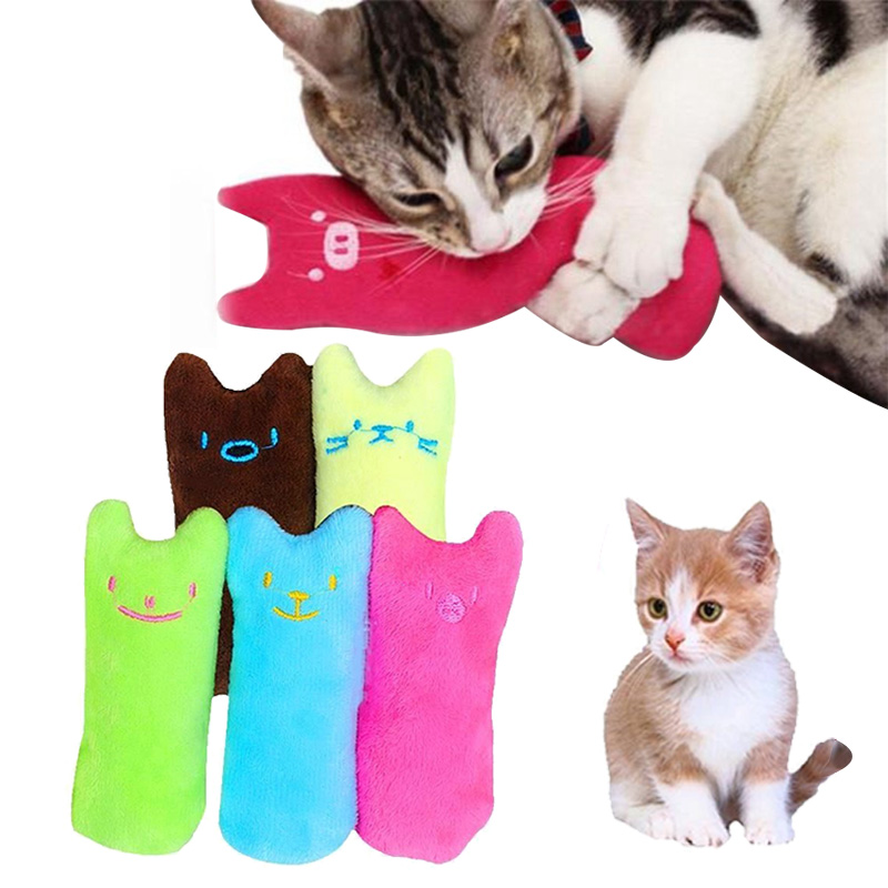 Cat Toy Interactive Cat Nip Toys Crazy Biting Pet Kitten Chewing Toy Teeth Grinding Catnip Toys Claws Cat mint for Cat Kickers