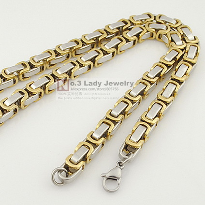 U boxes for mens/man link chain 316l stainless steel wholesale necklaces gift for boyfriend cool accessory WN185