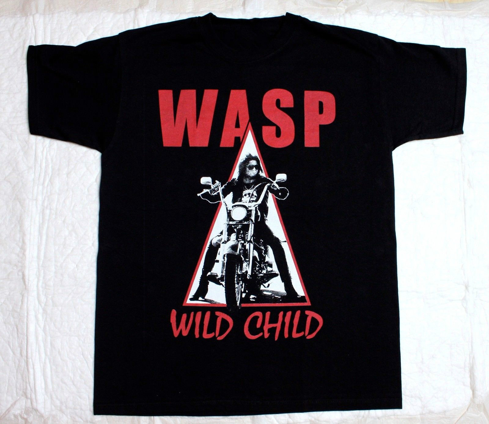 W.A.S.P. WILD CHILD85 HEAVY METAL BAND WASP TWISTED SISTER NEW BLACK T-SHIRT Cotton T-Shirt Fashion T Shirt top tee