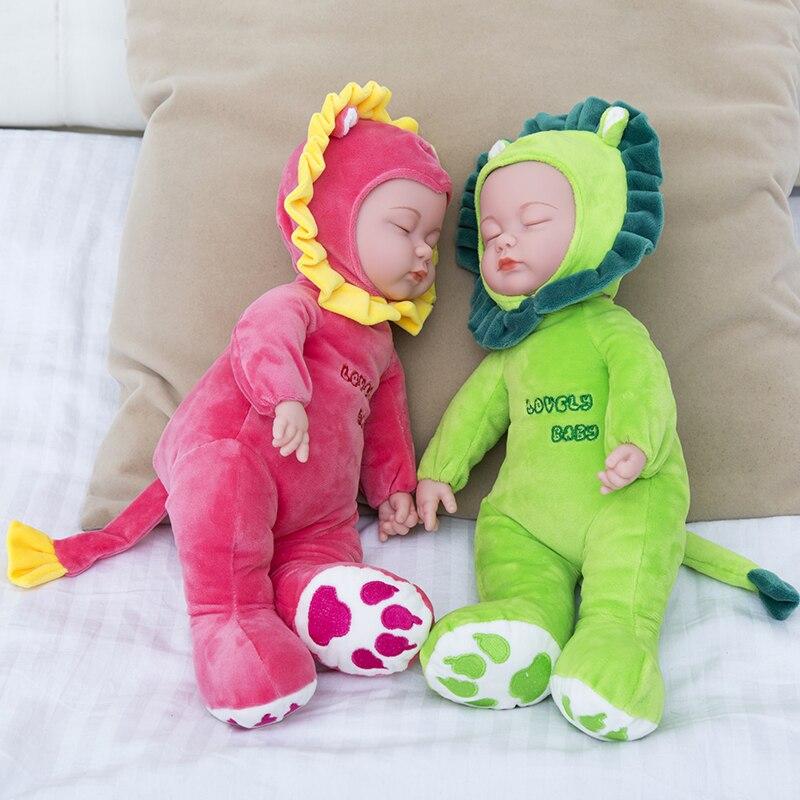 """Pop Reborn baby 35cm 14 """"dromen Baby's Silicone Levensechte Realistische kinderen Partners geboortekunst"""