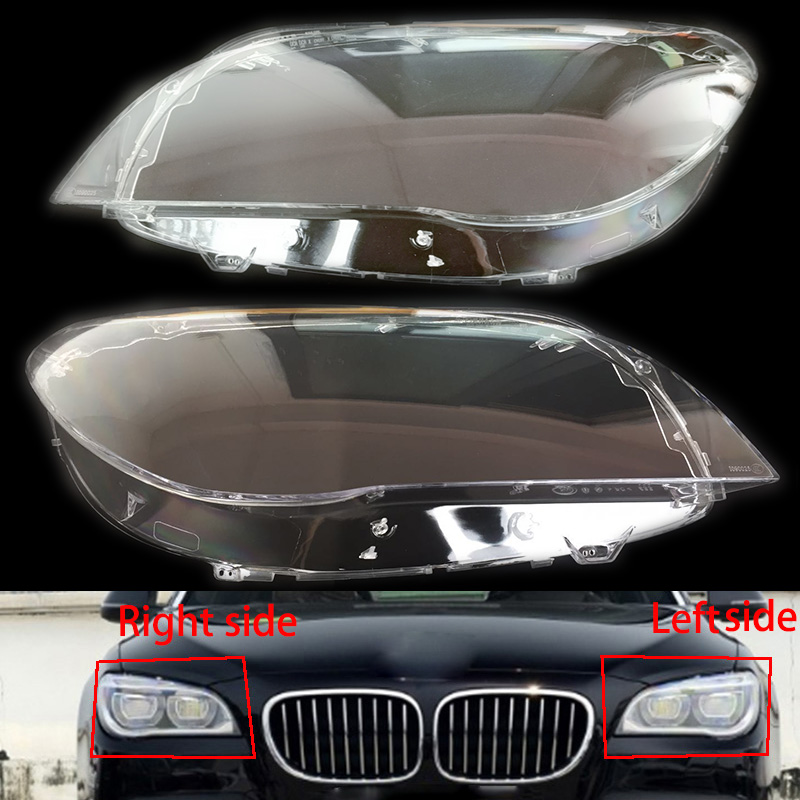 For BMW 7 series 09 15 F02 F01 front headlamps transparent lampshades lamp shell masks headlights