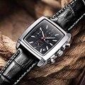 MEGIR Relojes para hombre de Primeras Marcas de Lujo de Los Hombres Del Deporte Militar Luminosa Cronógrafo de Pulsera de Cuero Reloj de Cuarzo relogio masculino