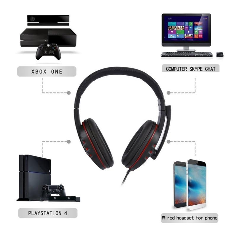 2 M Kabel Hifi Leder Usb Wired Stereo Micphone Noise Cancelling-kopfhörer Mit Mikrofon Headset Für Ps3/ps4 Pc Spiel