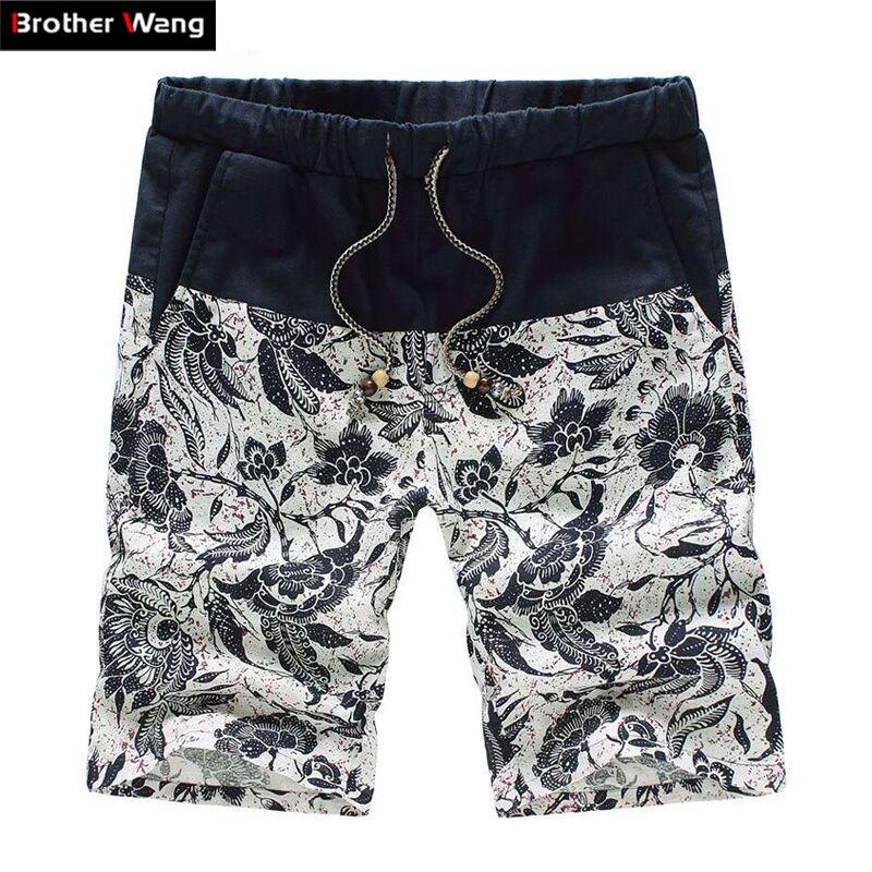 Casual Shorts Bermuda Hawaii Straight Men's Plus-Size Fashion Summer Brands New 4XL 5XL