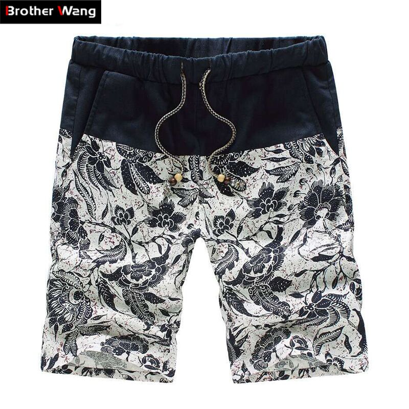 2019 Summer New Men's Fashion Casual Shorts Straight Loose Hawaii Bermuda Floral Shorts Male Brands Plus Size 4XL 5XL