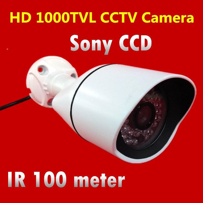 1/3 Sony CCD 1000TVL HD IR 100 meter Waterproof Outdoor Security Camera Surveillance CCTV Camera High Quality hd video surveillance camera waterproof bullet cctv camera 1000tvl sony ccd outdoor home security camera