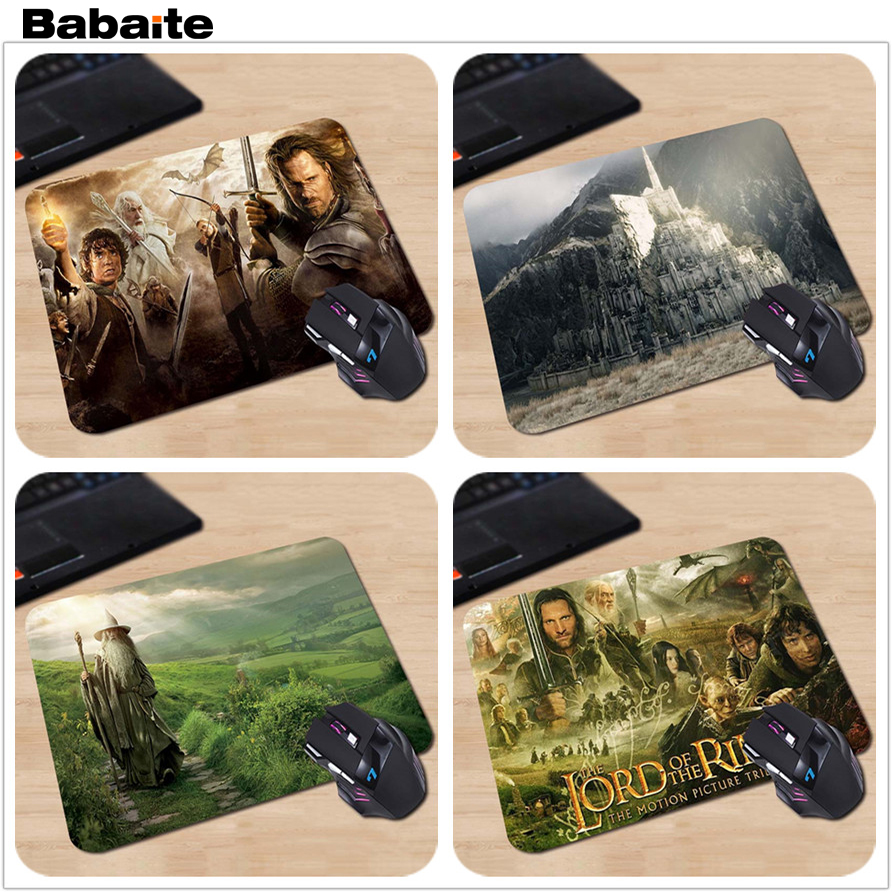 Babaite Gaming Mousepad Wholesale Gamer Speed Mousemat lord of the rings Hot Sale Mouse Pad Computer Gaming MousePads