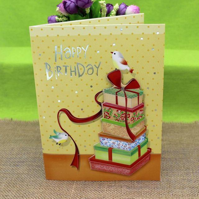Korea Hot Dimensional Greeting Cards Musical Birthday Blessing Wholesale Price Of High End Business Sense Enka