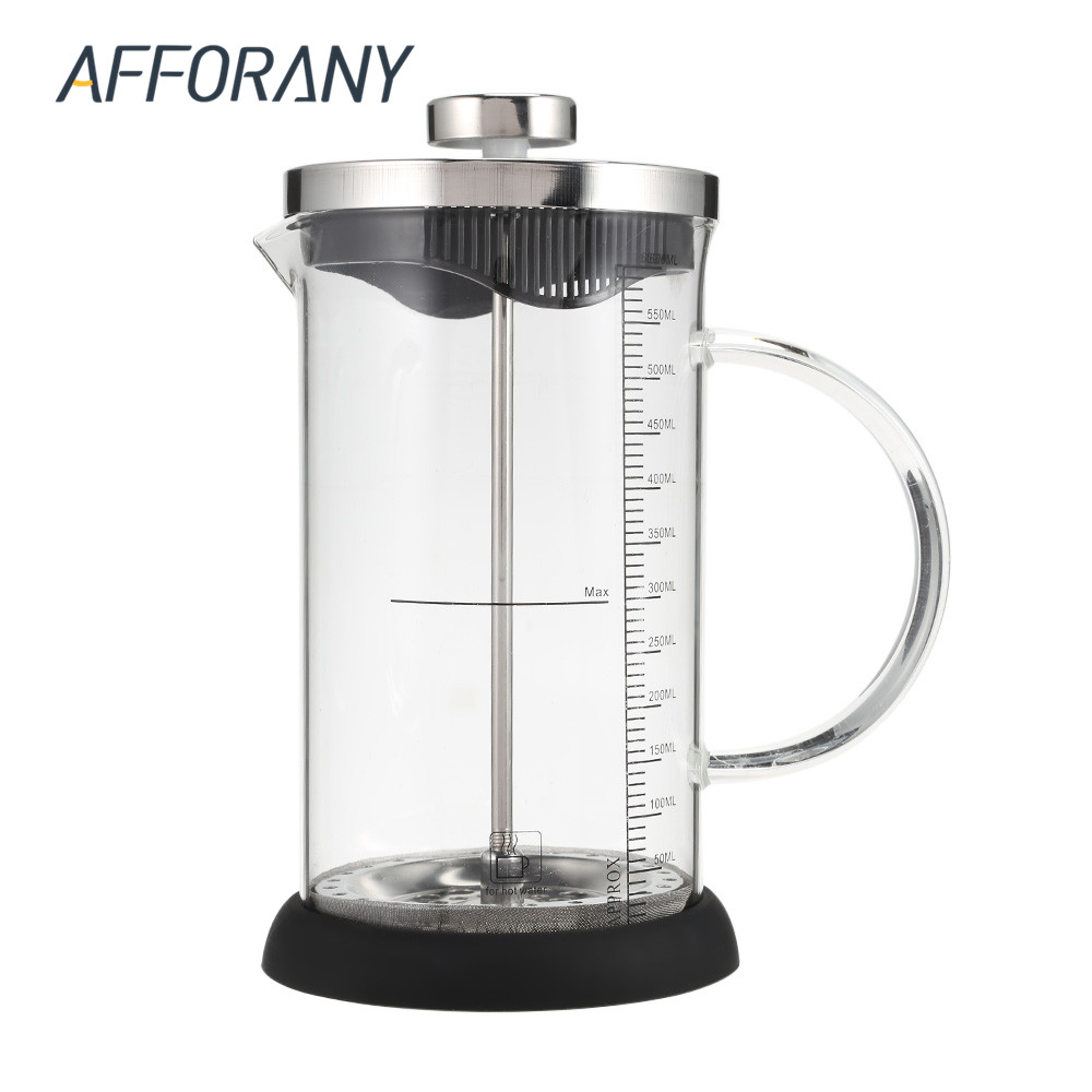 Coffee Maker In French : 350ML/600ML Glass French Press Coffee Maker Tea Pot French Cafetiere Permanent Coffee Filter ...