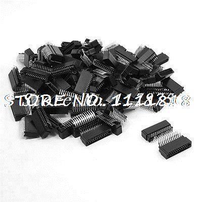 100 Pcs 2.0mm Pitch Dual Row 2x12 Pin Angle IDC Male Headers 24 Pins