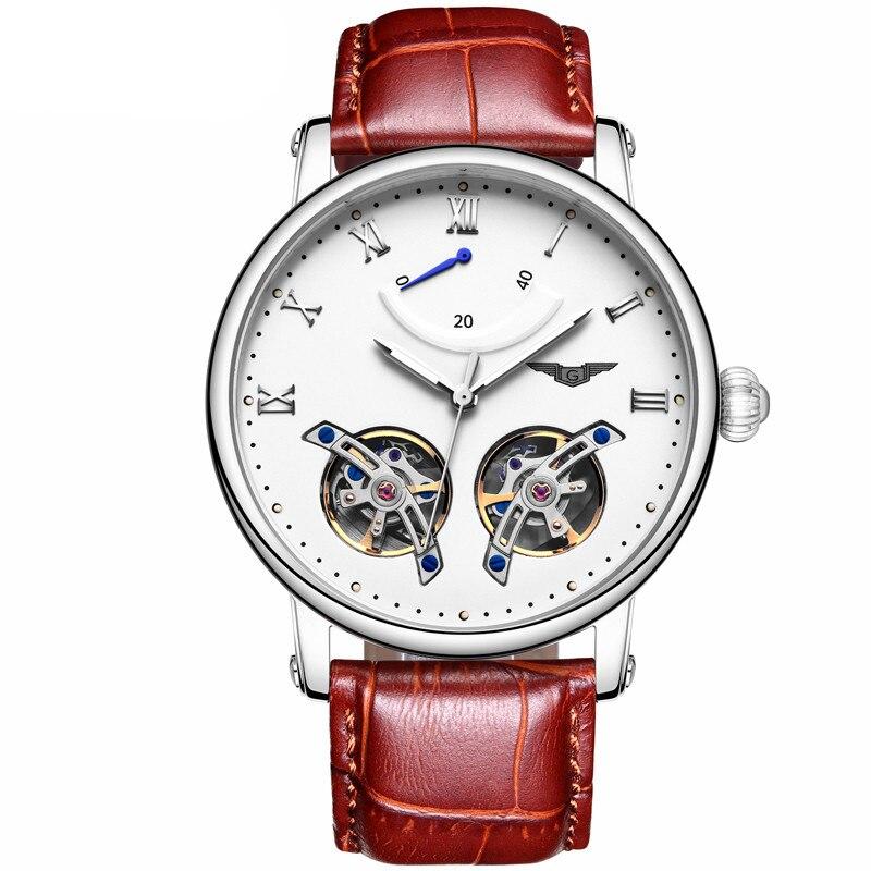 Здесь можно купить  GUANQIN GJ16046 skeleton Tourbillon New Mechanical Watch Men Fashion Wrist Watches Male Automatic Clock relogio automatico  Часы