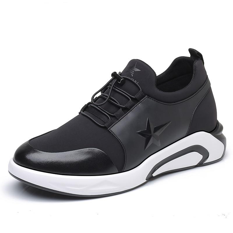 Nouveau Casual Confort Hommes de Hauteur Augmenter Chaussures Ascenseur Caché de la semelle intérieure Taller 7 cm/2.54 pouces pour Jeune Homme