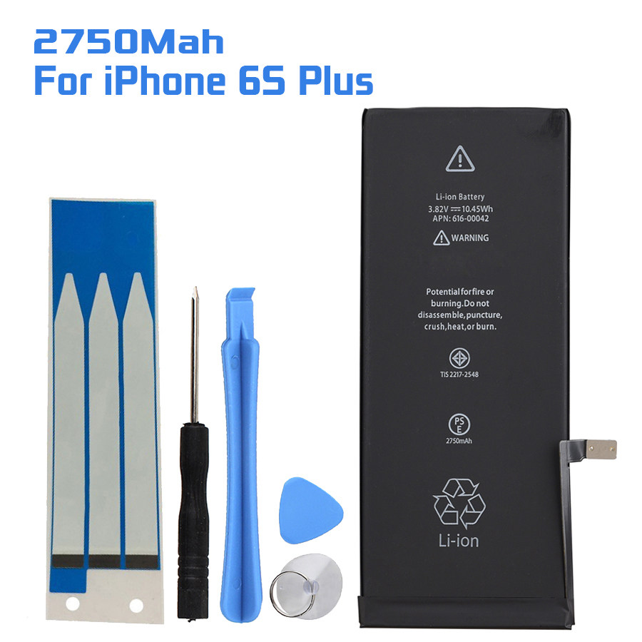 GOLDFOX Li-Ion-Battery IPhone 6s Replacement Plus 2750mah For With Repair-Tools-Kits