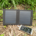 PowerGreen Foldable Solar Charger Panel 7 Watts Solar Power Bank Solar Battery Backup Pack Phone External Charger for Hiking